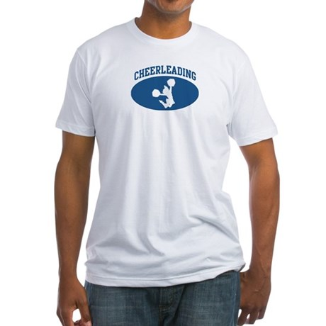 Cheerleading (blue circle) Fitted T-Shirt