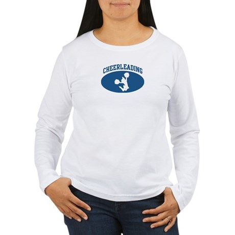 Cheerleading (blue circle) Women's Long Sleeve T-S