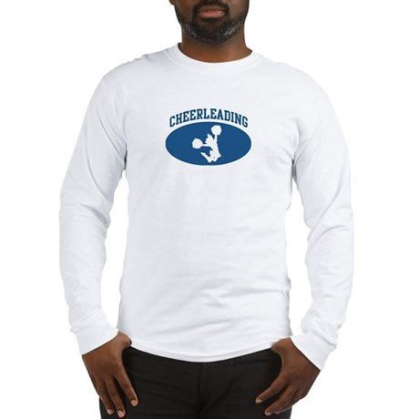 Cheerleading (blue circle) Long Sleeve T-Shirt