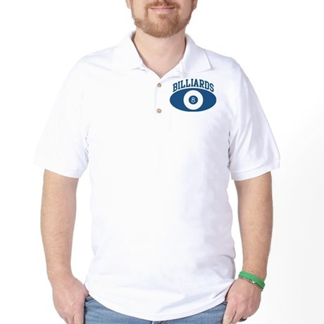 Billiards (blue circle) Golf Shirt