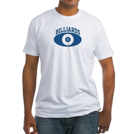 Billiards (blue circle) Fitted T-Shirt