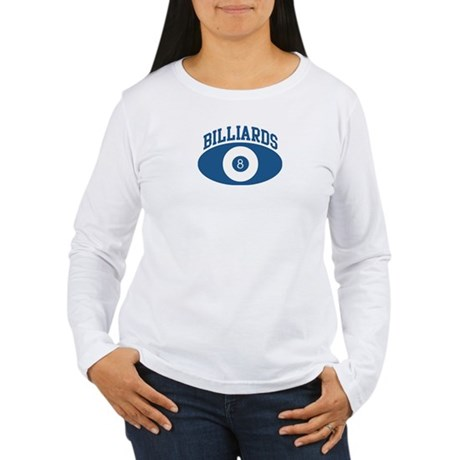 Billiards (blue circle) Women's Long Sleeve T-Shir