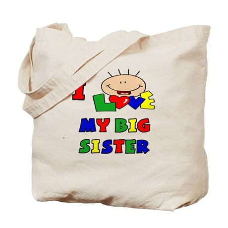 Love My Big Sister BRIGHTS Tote Bag