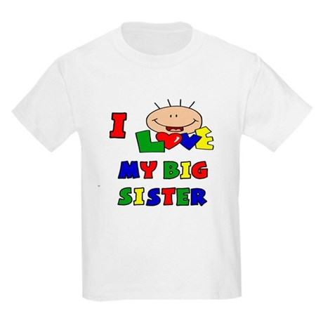 Love My Big Sister BRIGHTS Kids Light T-Shirt