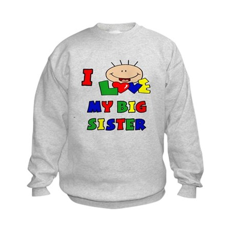 Love My Big Sister BRIGHTS Kids Sweatshirt