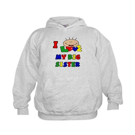 Love My Big Sister BRIGHTS Kids Hoodie