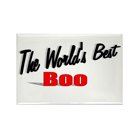 """The World's Best Boo"" Rectangle Magnet"