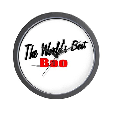 """The World's Best Boo"" Wall Clock"