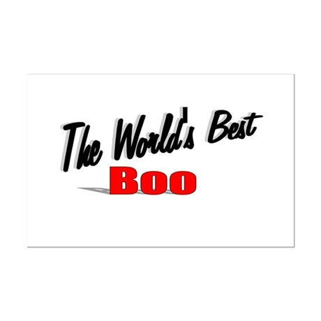 """The World's Best Boo"" Mini Poster Print"