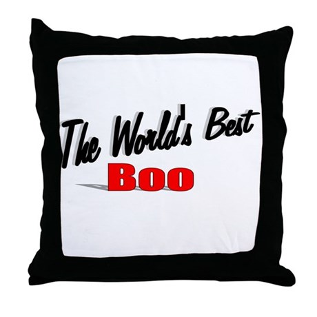 """The World's Best Boo"" Throw Pillow"