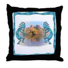 Kokopelli No.9 Throw Pillow