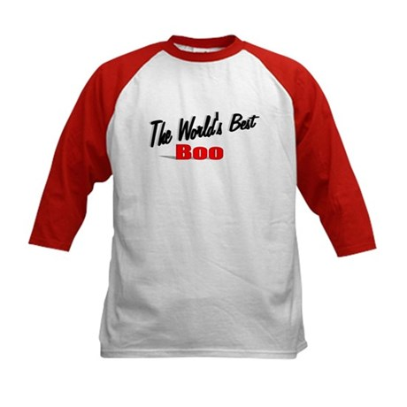 """The World's Best Boo"" Kids Baseball Jersey"