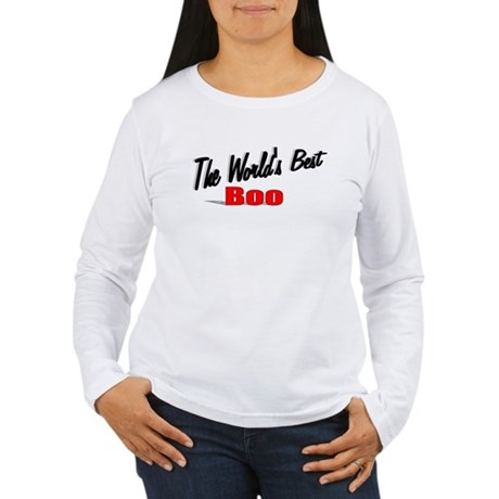 """The World's Best Boo"" Women's Long Sleeve T-Shirt"