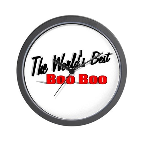 """The World's Best Boo Boo"" Wall Clock"