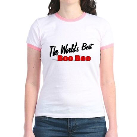 """The World's Best Boo Boo"" Jr. Ringer T-Shirt"