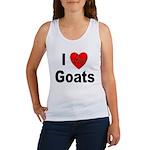 I Love Goats for Goat Lovers Women's Tank Top