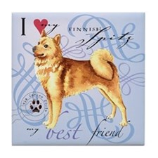Finnish Spitz Tile Coaster