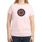 Scorpio-Wheel-round Women's Pink T-Shirt