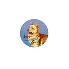 Finnish Spitz Mini Button