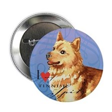 "Finnish Spitz 2.25"" Button"