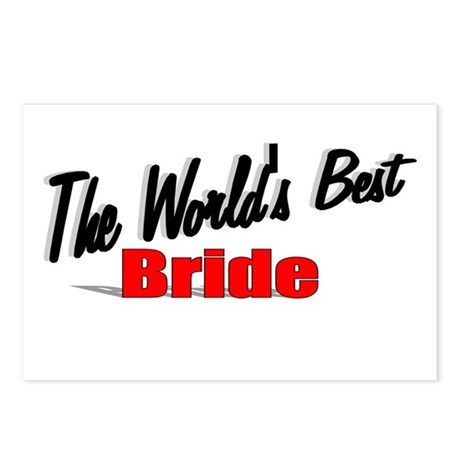 """The World's Best Bride"" Postcards (Package of 8)"