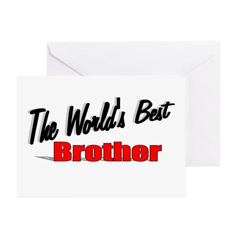 &quot;The World's Best Brother&quot; Greeting Cards (Pk of 2