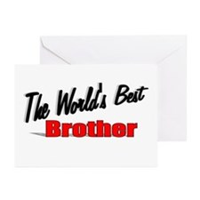 """The World's Best Brother"" Greeting Cards (Pk of 2"