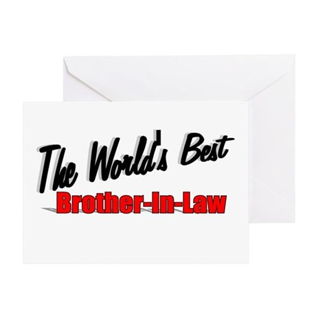 """The World's Best Brother-In-Law"" Greeting Card"