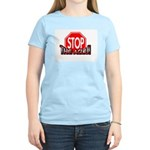 STOP THE ACLU! Women's Pink T-Shirt