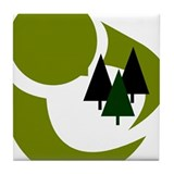 Tree Hugger Tile Coaster