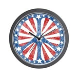 Retro American Peace Sign Wall Clock