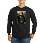 Mona's Black Shar Pei Long Sleeve Dark T-Shirt