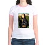Mona's Black Shar Pei Jr. Ringer T-Shirt
