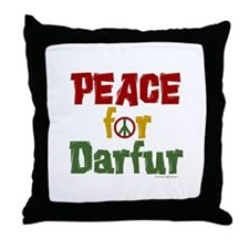 Peace For Darfur 1.1 Throw Pillow