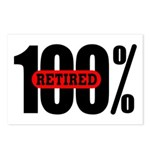 100 Percent Retired Postcards (Package of 8)