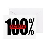 100 Percent Retired Greeting Cards (Pk of 10)