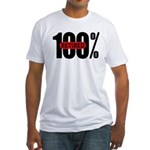 100 Percent Retired Fitted T-Shirt
