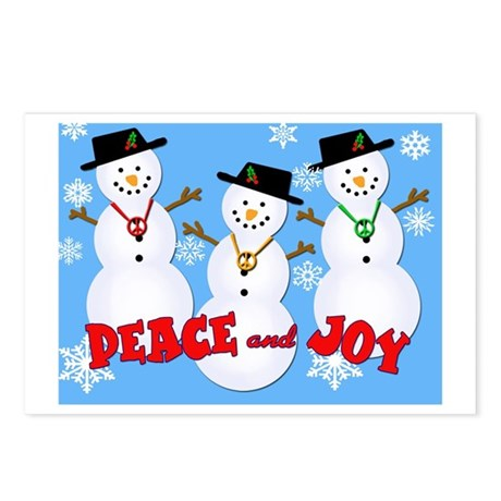 Peace & Joy Snowmen Postcards (Package of 8)