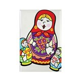 Nesting Dolls Rectangle Magnet