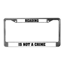 Reading is Not a Crime License Plate Frame