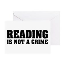 Reading is Not a Crime Greeting Card