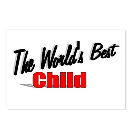 """The World's Best Child"" Postcards (Package of 8)"