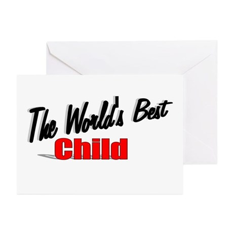 """The World's Best Child"" Greeting Cards (Pk of 10)"