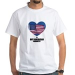 BUY AMERICAN PRODUCTS White T-Shirt