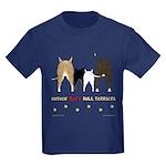 Nothin' Butt Bull Terriers Kids Dark T-Shirt