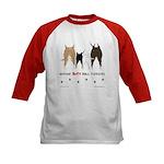 Nothin' Butt Bull Terriers Kids Baseball Jersey