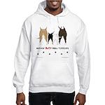 Nothin' Butt Bull Terriers Hooded Sweatshirt