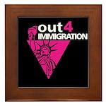 Out4Immigration Framed Tile