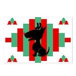 Bull Terrier Christmas Postcards (Pk of 8)