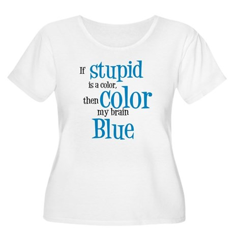 Color my stupid brain... Women's Plus Size Scoop N
